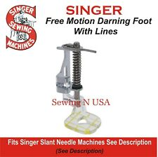 Darning Quilting Free Motion Guide Foot//Feet For Singer Slant Shank # P60417 ONLY fit slant shank machine