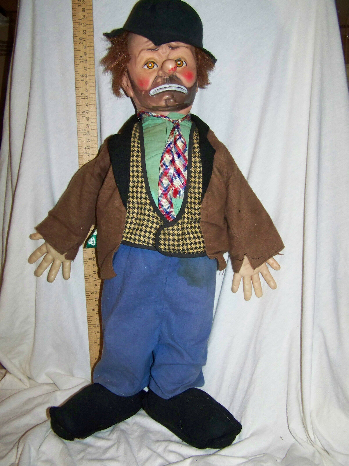 Vintage Emmett Kelly Willy Clown Doll LARGE