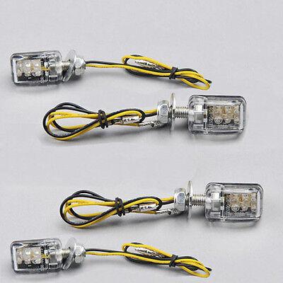 4 x 12V 6 LED Mini Universal Motorcycle Turn Signal Blinker Indicator Light Lamp