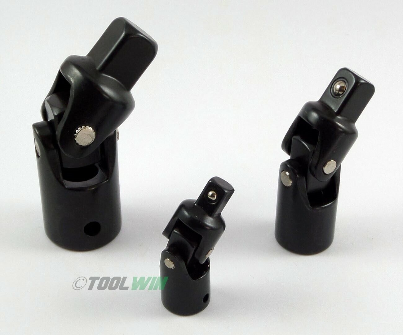 00788 toolwin 3pc Impact Swivel Universal Joint Air Impact Socket Set 1/4 3/8 1/2