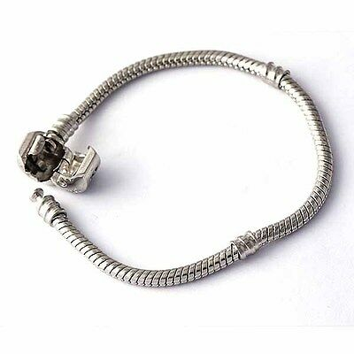 european Charm bracelets authentic clip sterling silver Plated F/ beads stopper