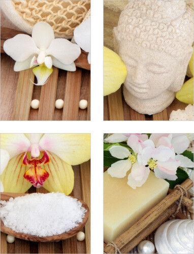 Fliesenaufkleber Fliesenbild Budda Orchidee Wellness SPA Aufkleber Fliesen Bad