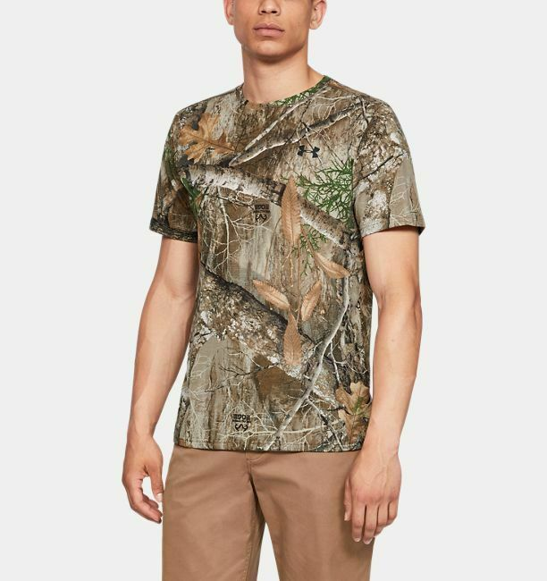 Under Armour Mens Small Threadborne Early Season Crew S//S Hunting Tee Shirt $40