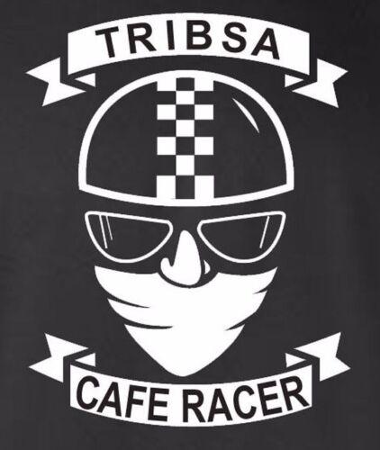 CAFE RACER-TRIBSA-MOTO-Biker Moto-Rocker-rétro-noir GILDAN-T-Shirt