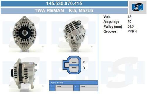 TWA generalüberholt Lichtmaschine 145.530.070.415 MAZDA MAZDA