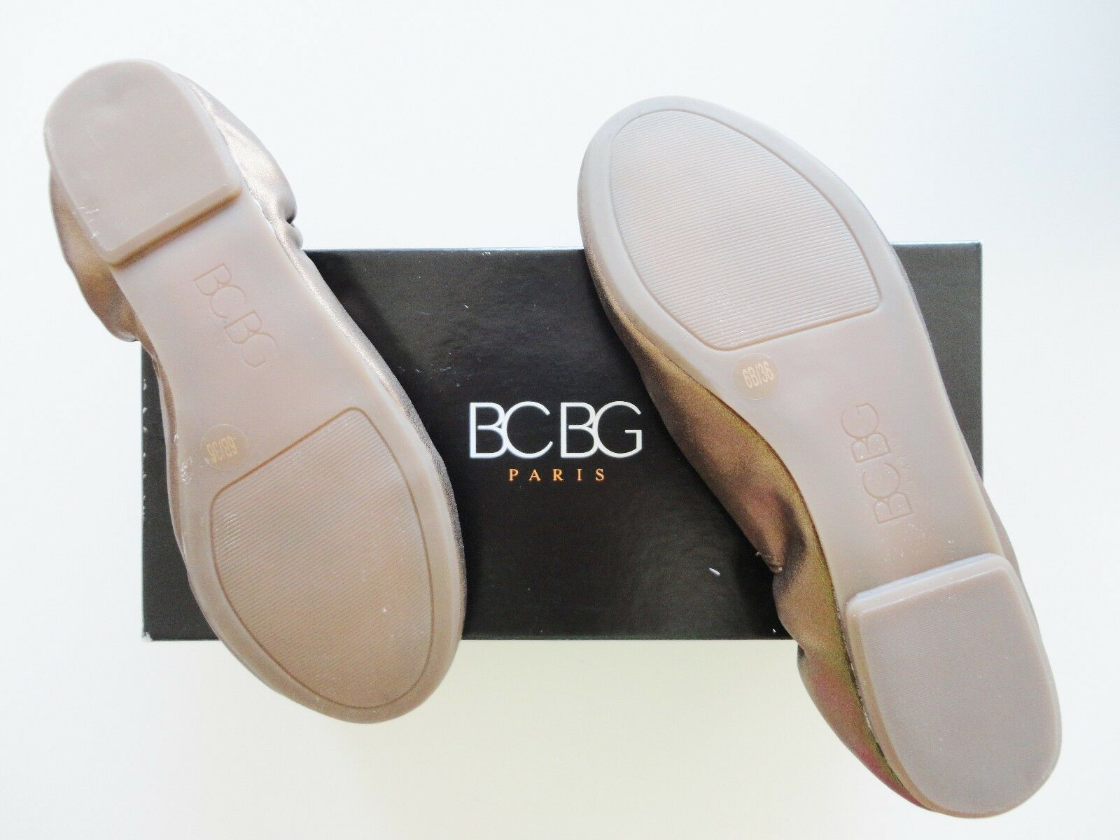 NEW BCBG BRONZE LEATHER FLATS SHOES LIMITED LIMITED LIMITED EDITION DESIGNER 100% AUTHENTIC c3d3e3
