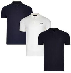 Firetrap-Nuevo-Para-Hombres-Camisa-Polo-Casual-de-Algodon-Llano-T-Shirt-llano-Pique-Jersey-Top