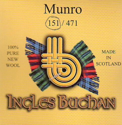 Tartan Tie Clan Munro Scottish Wool Plaid