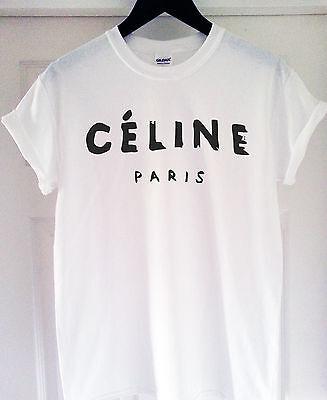 *****CELINE PARIS T SHIRT RIHANNA TOUR COMME HYPE GEEK TEE SHIRT TOP *****