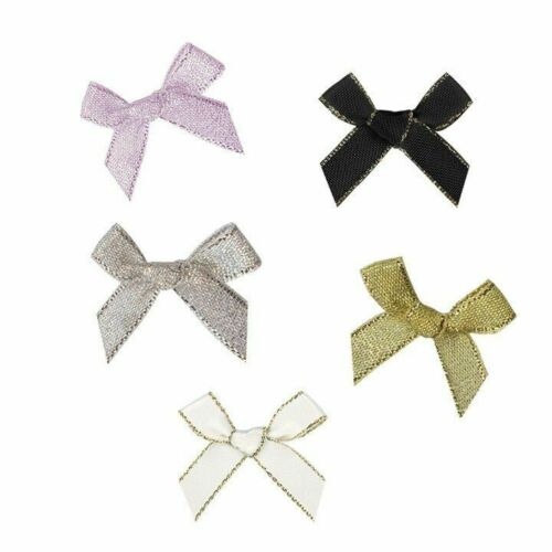 Satin Ribbon Bows Scrapbook Gift Wrap Party Decoration DIY Headwear Sewing Decor