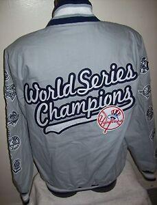 New York Yankees 27 Time World Series Champions Jacket Gray 3xl Ebay