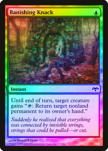 Banishing Knack FOIL Eventide NM-M Blue Common MAGIC THE GATHERING CARD ABUGames