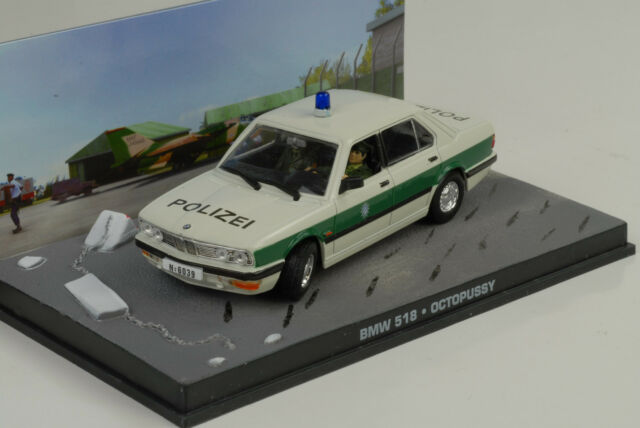 BMW 518 Police Polizei Octopussy James Bond Movie 1:43 Ixo