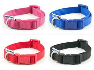Ancol-Nylon-Adjustable-Dog-Collar-Red-Blue-Black-3-sizes