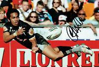 Patrick Ah VAN New Zealand Rugby League Signed Autograph 12x8 Photo AFTAL COA
