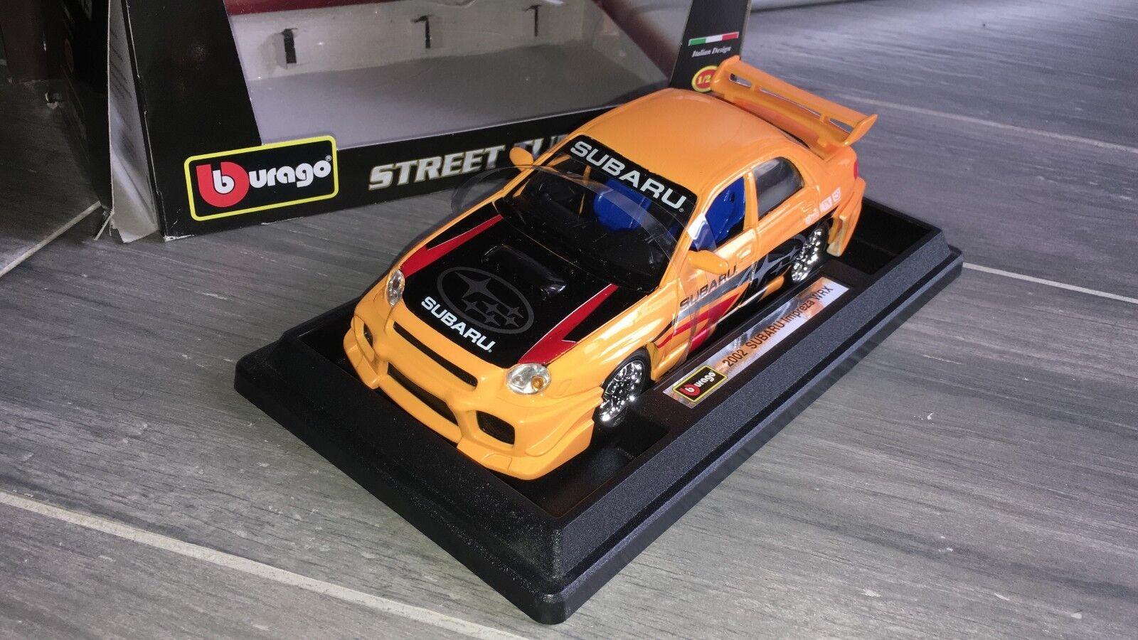 BBURAGO BURAGO STREET TUNERS 1 24 SUBARU IMPREZA WRX 2002 WRC Navarre Mc Rae