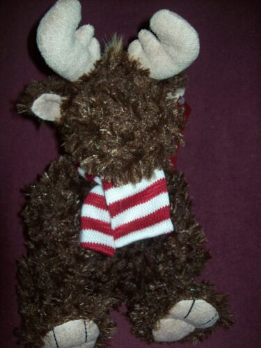 RED /& WHITE STRIPED SCARF NEW NWT BOYS /& GIRLS CLUBS OF AMERICA BROWN MOOSE
