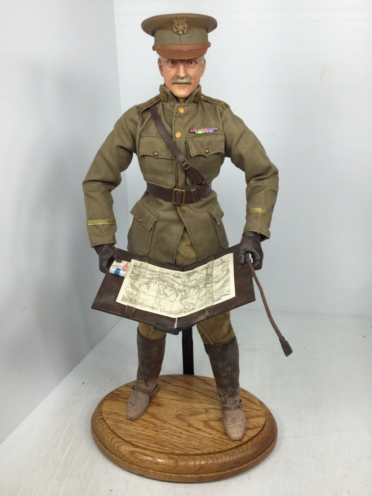 "1 6 SIDESHOW WW1 US GENERAL ""schwarzJACK"" PERSHING AEF + STAND DRAGON DID BBI 21st"