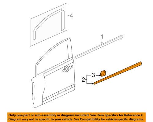HONDA OEM 06-11 Civic FRONT DOOR-Body Side Molding Right 75302SNEA02ZE