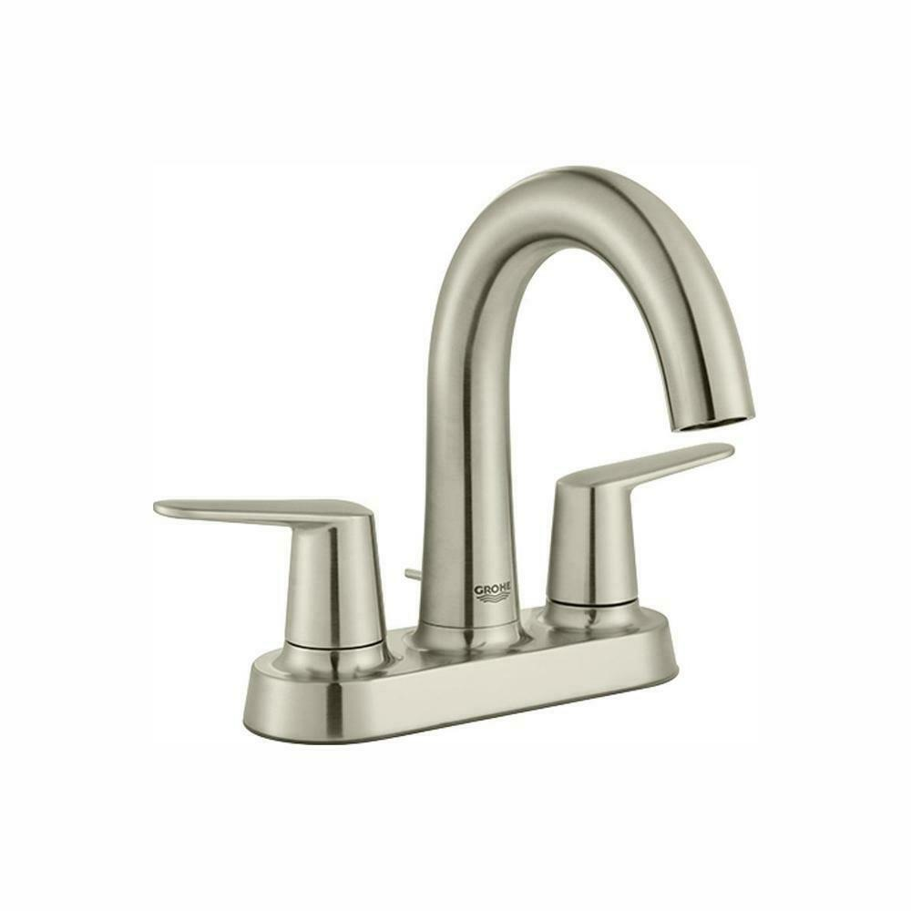 Grohe Veletto Centerset 2 Handle Bathroom Faucet Brushed Nickel 20582EN0