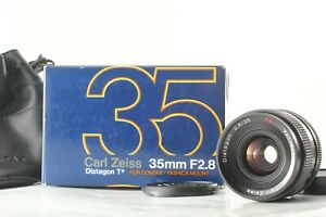"""MINT+++ in Box"" CONTAX Carl Zeiss Distagon T* 35mm f2.8 MMJ Lens CY Mount JAPAN"