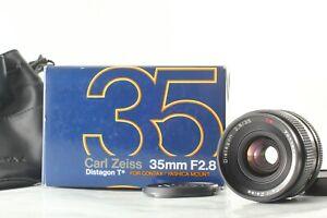 """Mint+++ in Box"" CONTAX Carl Zeiss Distagon T* 35mm f2.8 MMJ Lens CY Mount JAPAN"