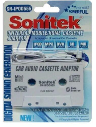 SN-IPOD555 Sonitek 2 Pk Universal Mobile//Home Cassette Adaptor