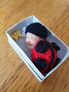 Ooak-Polymer-Clay-2-Inchs-Newborn-Baby-With-LADYBIRD-BY-Kim