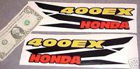 Decal Stickers Graphics Kit For Honda 400ex 400 Ex Tank Fender Black Wing Emblem