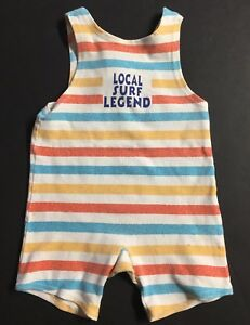 e2cc1895b795 Baby Boy s Striped Sleeveless Romper by Baby Gap - Size 3 - 6 Months ...