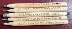 5-Pencil-Set-gt-034-Le-Crayon-a-Andre-034-gt-Amazing-ANCIENT-Coin-Cleaning-tool