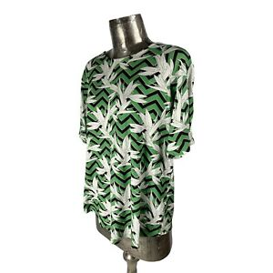 Fransa Green Top T-Shirt NEW UK L 16 (EU44) Women's RRP £30