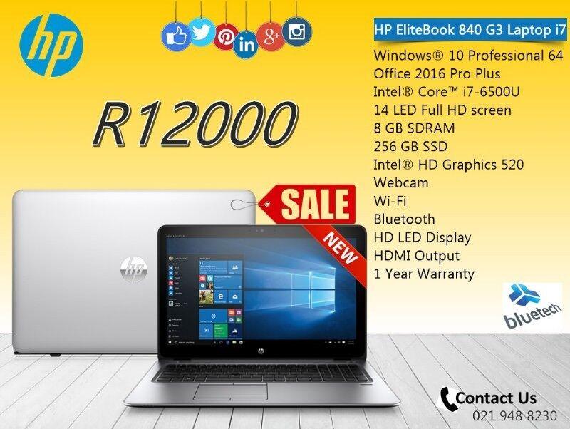 New HP EliteBook 840 G3 Laptop i7, 8GB RAM, 256 SSD, Bluetech Computers 021  9488230   Bellville   Gumtree Classifieds South Africa   226373826