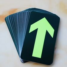 10x Emergency Straight Arrow Glow in the Dark Exit Sign Sticker Decal Safety