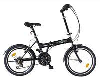 Ecosmo 20 Wheel Brand Folding Steel Bicycle Bike 21 Speeds - 20f03bl