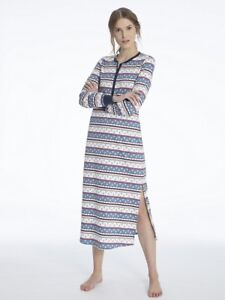 huge discount 237af 0e75d Details zu Calida Nachthemd lang 130cm Serie Family Time Nightdress Damen
