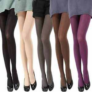 Women-039-s-Attract-Fashion-Transparent-Velvet-Tights-Pantyhose-Color-Stockings-Thin
