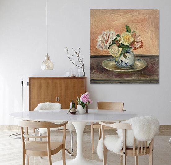 3D Mode Stil  Vase Blumen 7455 Fototapeten Wandbild BildTapete AJSTORE DE Lemon