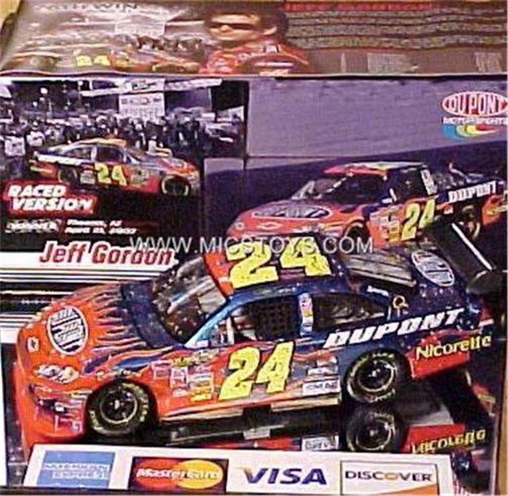 Nouveau 2007 Jeff Gordon  24 Dupont Phoenix 76th couru Win 1 24 Action Diecast ORIG