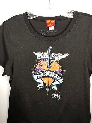 Bon Jovi T-Shirt Heart Black Tee