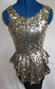 8 Paillettes 6 Wiggle Taglia Size8 'parigino' blackwith Fab Dress Gold Designer 0gFvTqFxwa