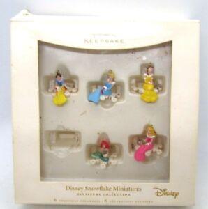 Hallmark-Disney-SNOWFLAKE-Princess-Miniatures-Mini-Ornaments-Set-of-5-2006