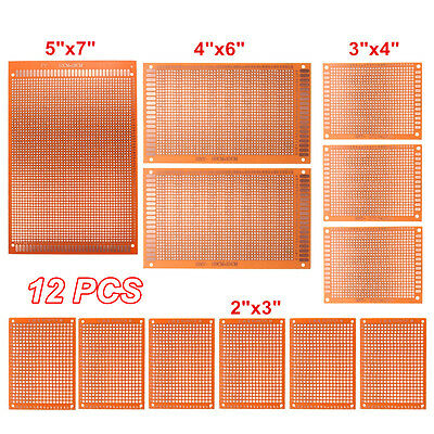 12x KIT Prototype Paper PCB Universal Experiment Matrix Circuit Board Stripboard