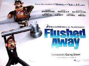 Cinema Poster Flushed Away 2006 A1 Kate Winslet Ebay