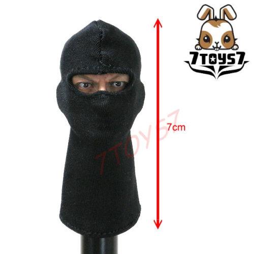7Toys7 1//6/_ A34 Plain Balaclava /_Black SWAT Figure Mask 7T004A