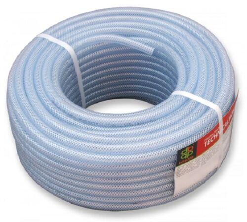 50 m PVC-Schlauch mit Gewebeeinlage  lebensmittelecht  verschiedene Durchmesser