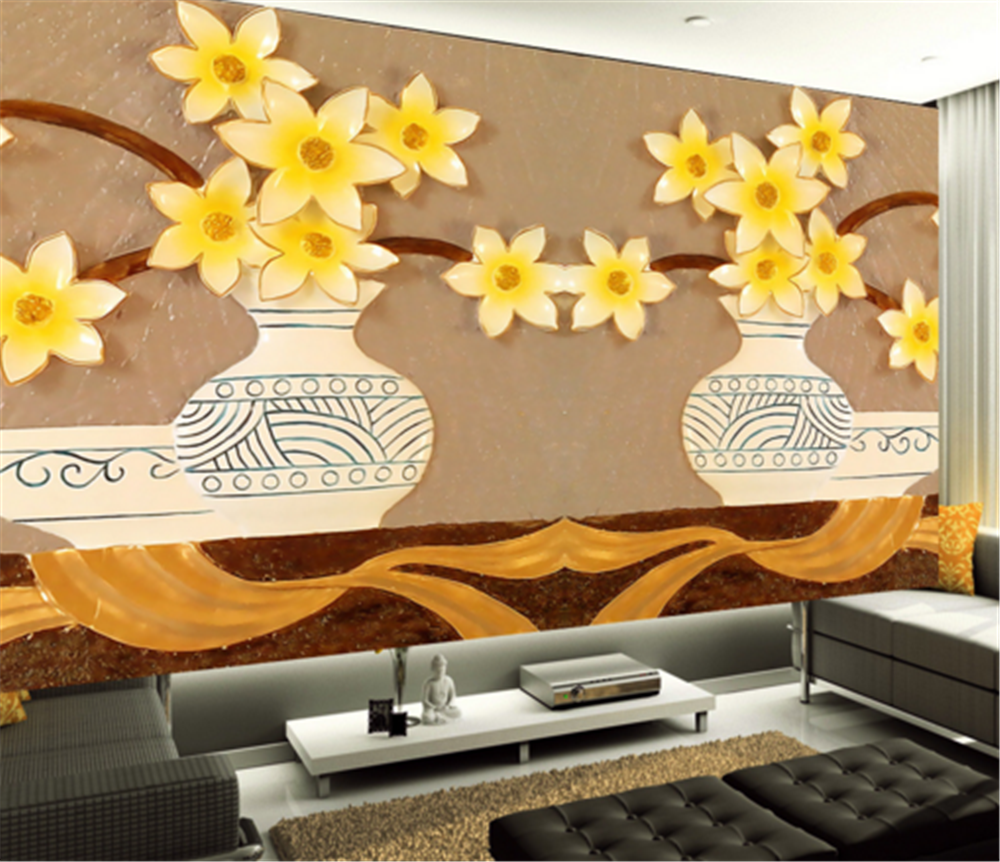 3D Gelb Flower 833 Wallpaper Mural Paper Wall Print Wallpaper Murals UK Carly