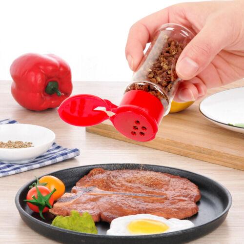 4Pcs Plastic Spice Salt Pepper Shakers Seasoning Jars Can Barbecue BBQ Condiment