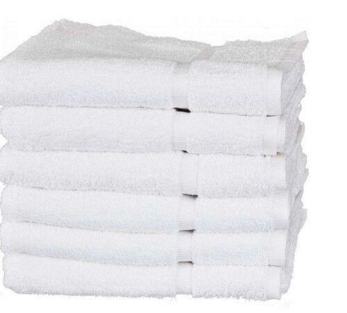 12 NEW white bath WASHCLOTHS 12X12 wholesale utility HOTEL towels 100/% COTTON