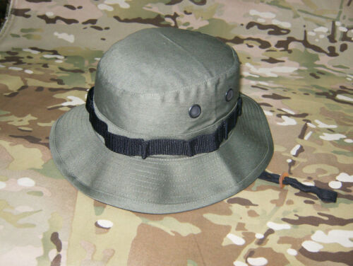 2 Boonie Hat Bush Hat OLIVE GREEN Jungle Hat Bucket Hat Marked XS Fits Small=7